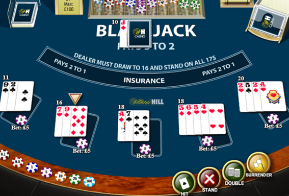 online casino blackjack rule
